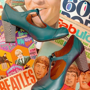 The Dusty - Leather or Vegan - Ladies Retro T-Bar Shoe by Mod Shoes