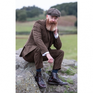The Shelby with New Thicker Soles - Oxblood Brogue Boots - Peaky Blinders Inspired
