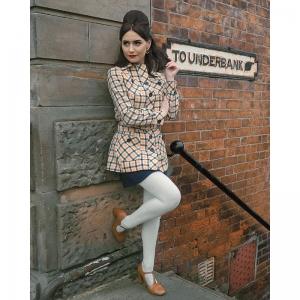 The Stella Caramel – Patent Leather Ladies Retro Vintage 60s 70s Shoe