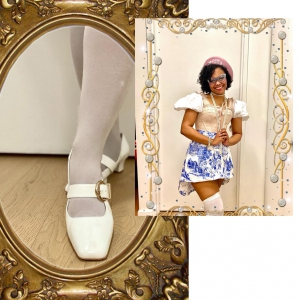 The Lola In White Patent Leather – Mary Jane 60s Style Ladies Shoes By Modshoes