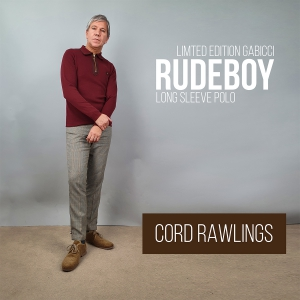 Mod Shoes Exclusive Gabicci Limited Edition Rudeboy Long Sleeve Polo In Burgundy & Suede Effect