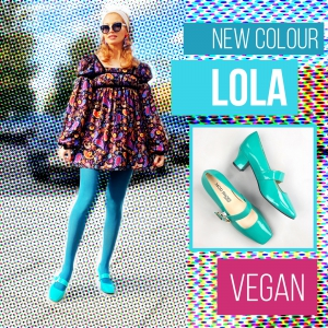 The Lola In Vegan Sea Green – Mary Jane 60's Style Ladies Shoes By Mod Shoes