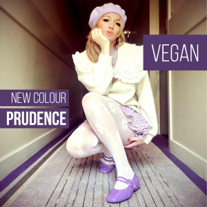 The Vegan Prudence – Ladies Flat Retro Vintage 60's Twiggy Style in Lilac by Mod Shoes