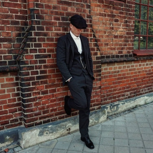 The Shelby with New Thicker Soles - Black Brogue Boots - Peaky Blinders Inspired