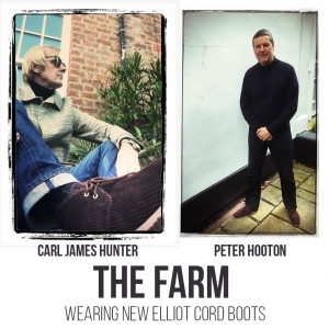 """The """"Elliot"""" Jumbo Corduroy – (Corded/Cord) Lace Up Boots Dark Brown by Mod Shoes - modelled by The Farm"""