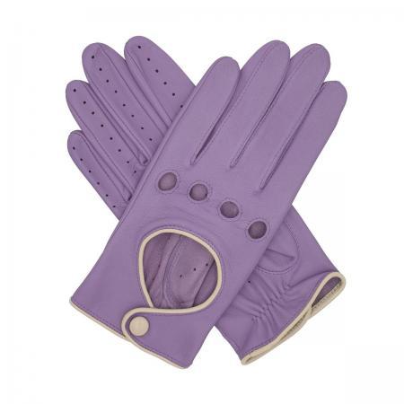 modshoes vintage retro ladies leather gloves jules_contrast_driving_glove_lavender_1