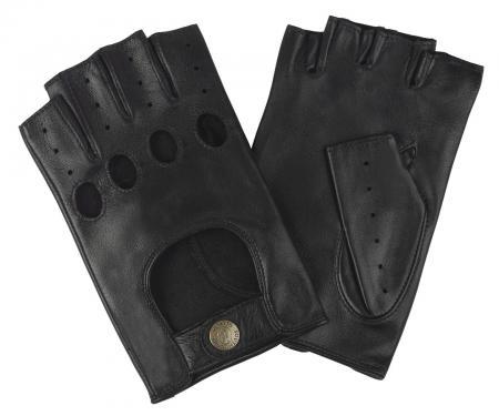 modshoes vintage retro mens driving leather gloves 113_sterling_black