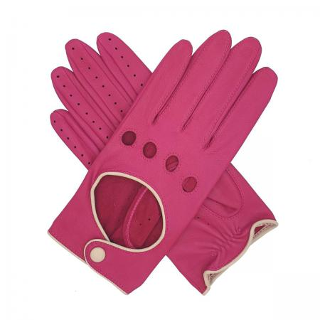 modshoes vintage retro ladies leather gloves jules_contrast_driving_glove_pink_1_3_1