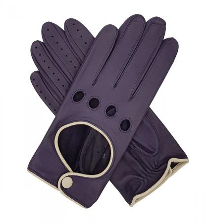 modshoes vintage retro ladies leather gloves jules_contrast_driving_glove_purple_1_4