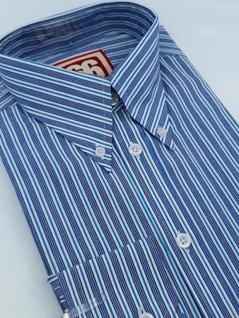 66-clothing-jackpot-shirt-blue-stripe-button-down-ska-mod-skin-northern-style-07