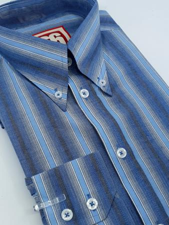 66-clothing-jackpot-shirt-blue-stripe-button-down-ska-mod-skin-northern-style-06