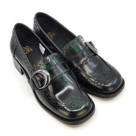 modshoes-ladies-loafers-brogue-shoes-vintage-retro-bottle-green-leather-08