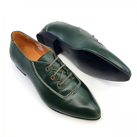 Modshoes-ladies-40s-war-type-shoes-the-Trixie-in-green-soft-leather-01