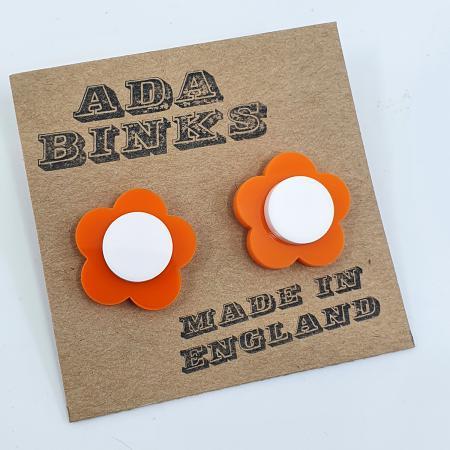 modshoes-ada-binks-stud-earrings-quant-style-orange-white