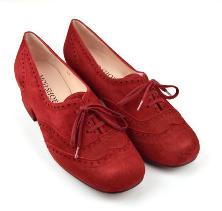 modshoes-ladies-vintage-retro-suede-brogue-black-heel-Cranberry-10