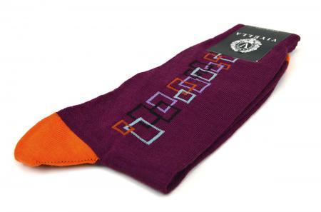 modshoes-sock-square-pattern-dark-pink