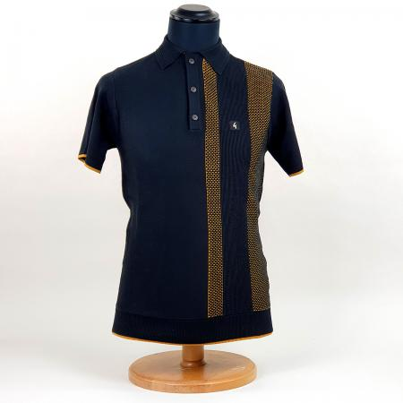 modshoes-gabicci-black-polo-with-gold-stripe-mesh-design-03