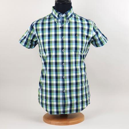 modshoes-gabicci-button-down-collar-shirt-lime-blue-white-check-03