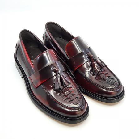 The-Allnighter---Ladies-Basket-Weave-Oxblood-Tassel-Loafers---SKA-Northern-Soul-Shoes-07