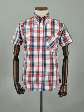 modshoes-and-66-clothing-jackpot-shirt-66SS15-short-sleeve-mod-skin-tartan-shirt-red-white-blue-green-05