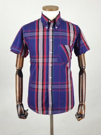 modshoes-and-66-clothing-jackpot-shirt-66SS14-short-sleeve-mod-skin-tartan-shirt-blue-red-gray-06
