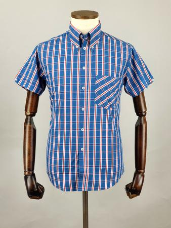 modshoes-and-66-clothing-jackpot-shirt-66SS13-short-sleeve-mod-skin-tartan-shirt-blue-white-red-04