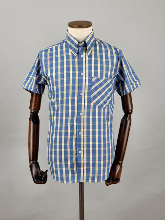 modshoes-and-66-clothing-jackpot-shirt-66SS16-short-sleeve-mod-skin-tartan-shirt-blue-white-yellow-04