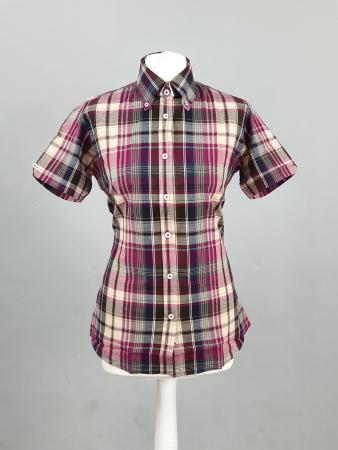 modshoes-and-66-clothing-ladies-button-down-shirt-pink-purple-biege-tartan-ladies-skinhead-ska-04