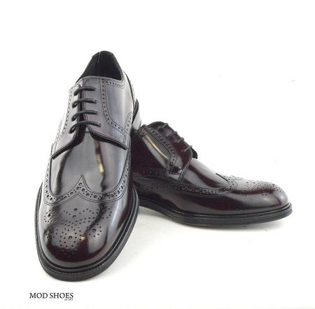 mod shoes oxblood burgundy american style wing tip brogue bridger 10