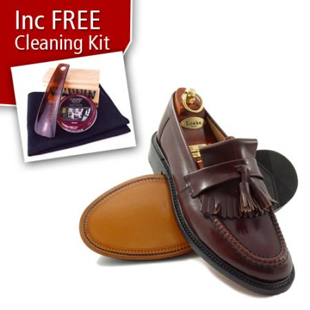 mod shoes loakes brighton tassel loafer oxblood burgundy