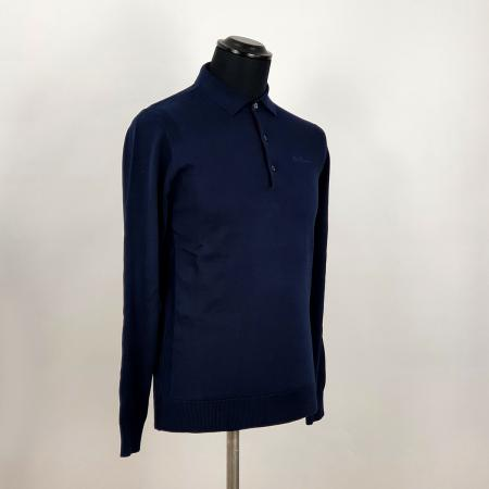 modshoes-ben-sherman-plain-navy-long-sleeve-polo-01