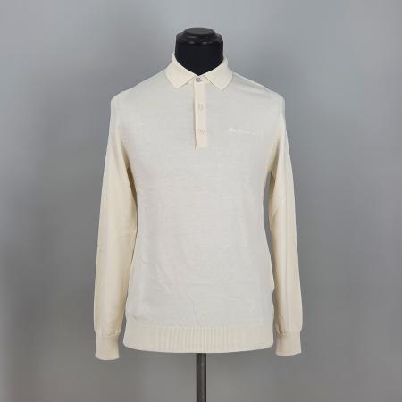 modshoes-ben-sherman-long-sleeve-polo-in-ivory-white-03