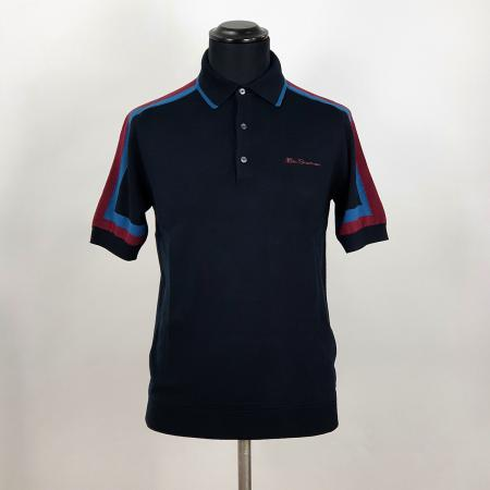 modshoes-ben-sherman-black-polo-with-contrast-stripe-on-sleeve-04